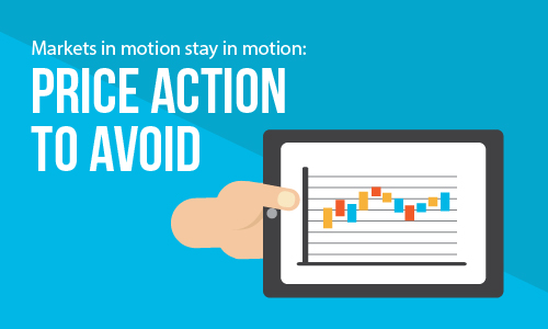 Markets in motion stay in motion: Price action to avoid