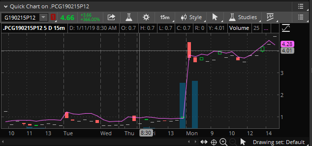 PG&E unusual options activity
