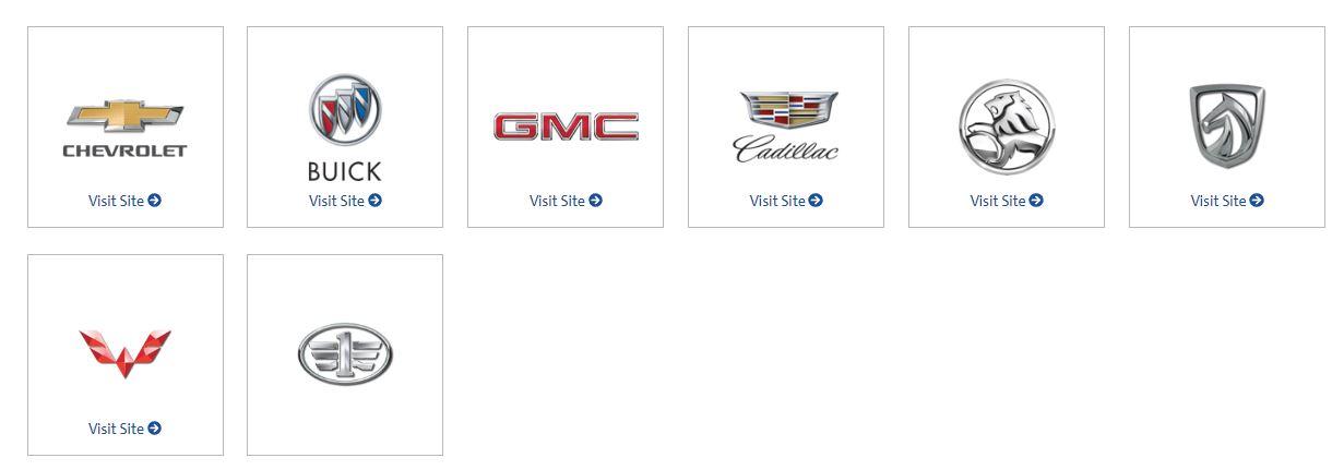 gm brands
