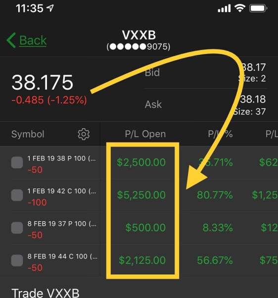 vix, vxxb trade