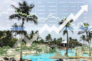 resort pool with stock trend