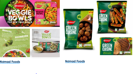 Nomad Foods Veggie Bowls and Green Cuisine